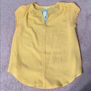 NWT fun2fun yellow blouse (StitchFix)